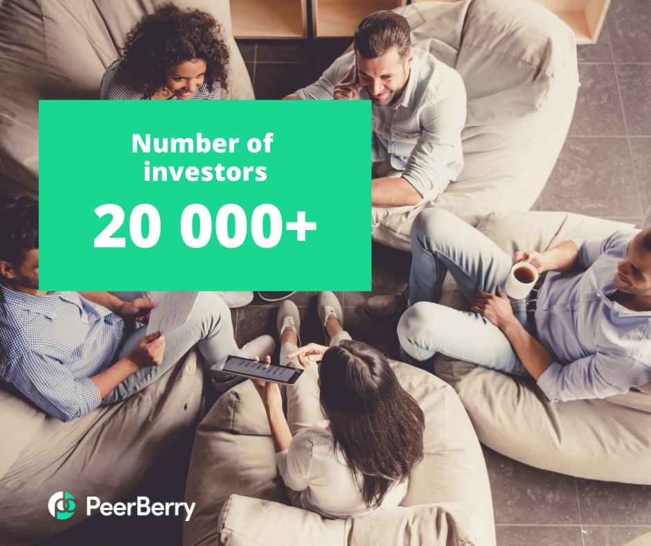 Numbers of investors 20 000+